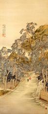椿椿山《久能山真景図》【重要文化財】