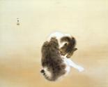 竹内栖鳳《斑猫》山種美術館蔵