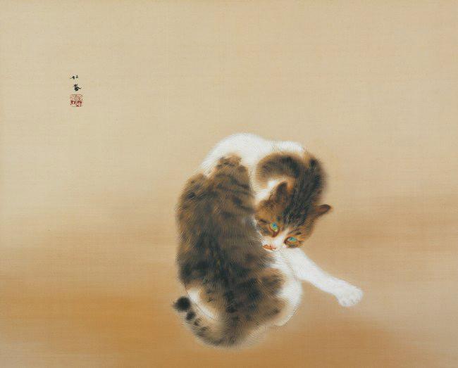 竹内栖鳳 班猫